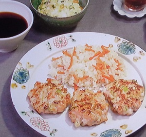 きょうの料理:栗原はるみさんのサーモンとえびのハンバーグのレシピ!