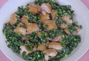 上沼恵美子のクッキング:鶏のニラ醤(ジャン)風味のレシピ!