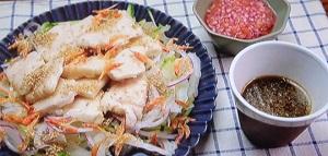 きじまりゅうたの小腹:鶏むね肉のプルプルサラダのレシピ!青木さやか