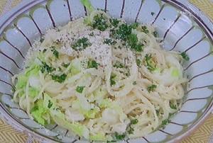 白菜すいとりパスタ