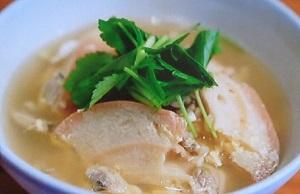 シブ5時:あさりと車麩の卵スープのレシピ!牛尾理恵さんのたんぱく質足せるレシピ