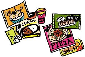 冷凍食品、加工食品、麺、