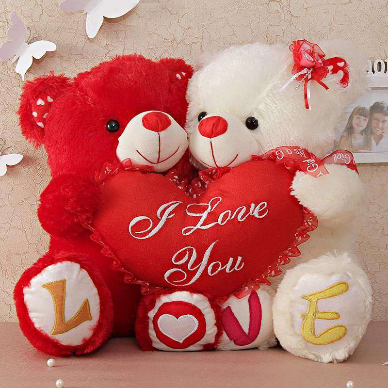 Buy Cute Couple Love Teddy Bears Holding I Love You Heart