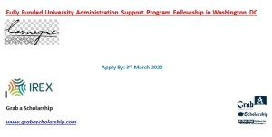 University Administration Support Program Fellowship