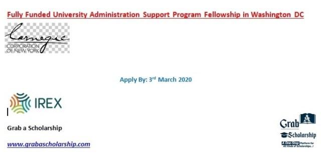University Administration Support Program Fellowship