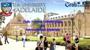 University of Adelaide Scholarship 2021