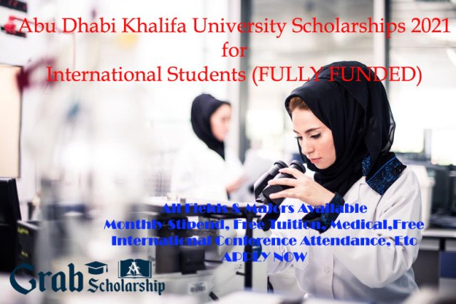 Abu Dhabi Khalifa University Scholarships 2021
