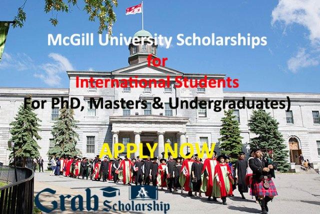 McGill University Scholarships for International Students