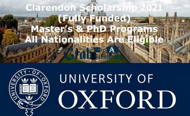 Clarendon Scholarship 2021