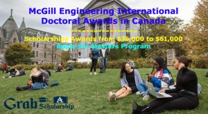 McGill Engineering International Doctoral Awards