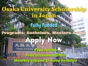 Osaka University Scholarship in Japan