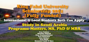 King Fahd University Scholarship 2021
