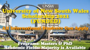 University of New South Wales Scholarship 2021