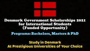 Denmark Government Scholarships 2021