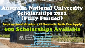 Australia National University Scholarships 2021