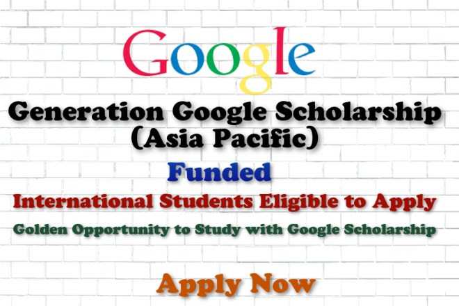 Generation Google Scholarship (Asia Pacific)