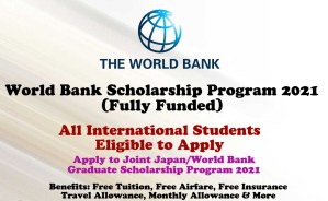 World Bank Scholarship Program 2021