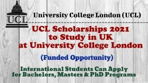 UCL Scholarships 2021