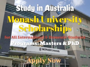 Monash University Scholarships