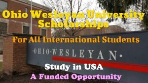 Ohio Wesleyan University Scholarships