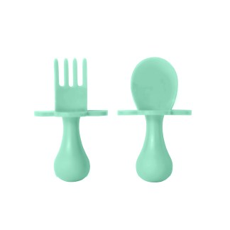 Toddler fork and spoon set Mint