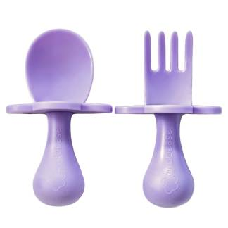 Toddler fork and spoon set Lavender