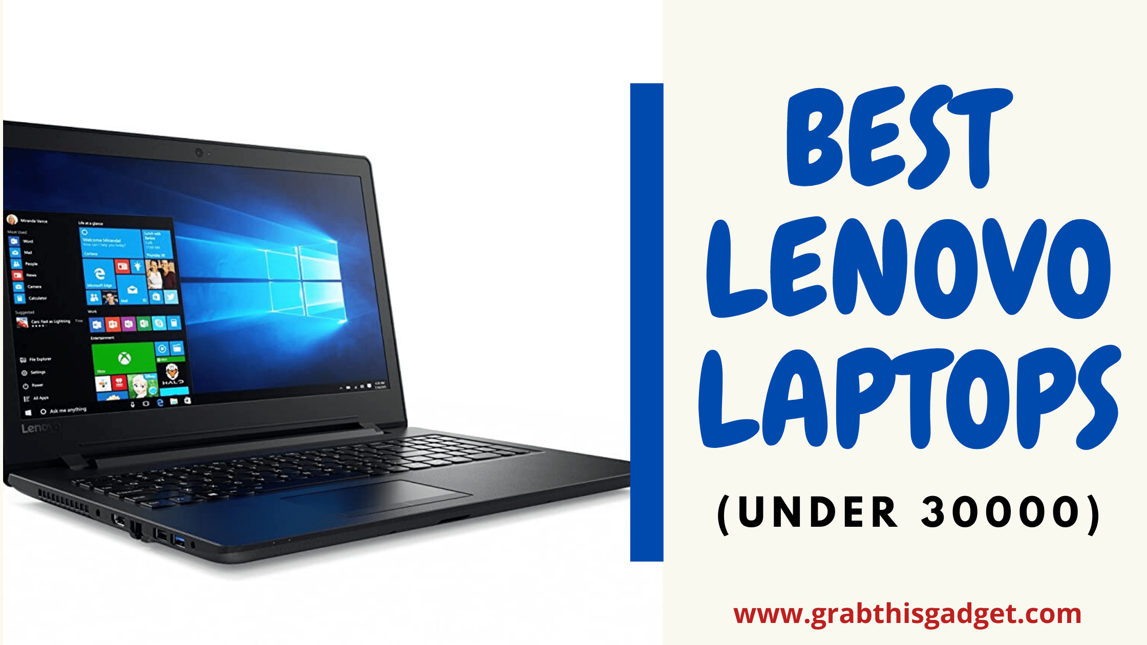 5 Best Lenovo Laptops under 30000 | Buy Latest Laptops