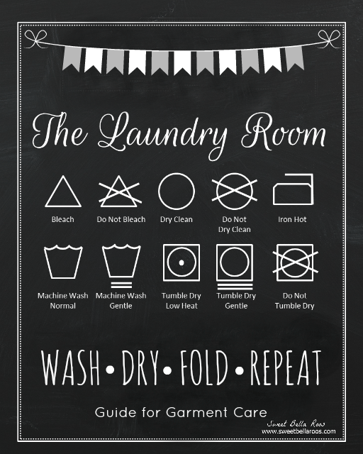 Free Laundry Room Printable #free #printable
