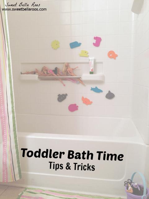 toddler bath time