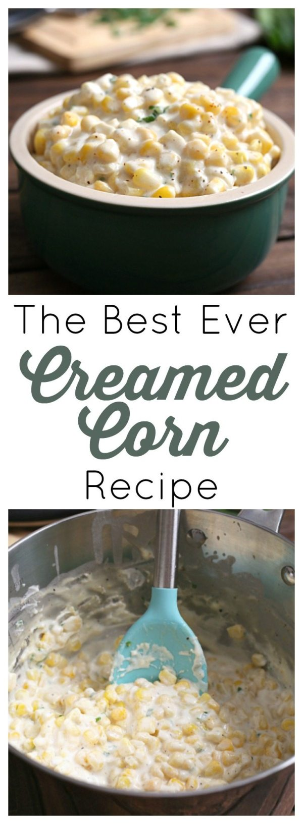 This recipe is the best creamed corn I've tried! Simple ingredients, a little bit of spice, and just a few minutes on the stovetop.