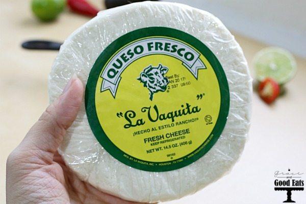 Cheese? Delicious. Guacamole? Delicious. Queso Fresco Guacamole- the most delicious thing ever!