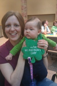 Lydia's first St Patrick's Day