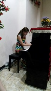 Emma played and sang at three diffrent churches and will do it again on Wednesday evening.