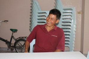 Pastor May has an infections smile though I was near tears several times as he told me his story.