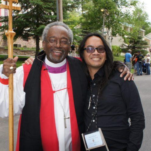 David Lloyd with Presiding Bishop Curry