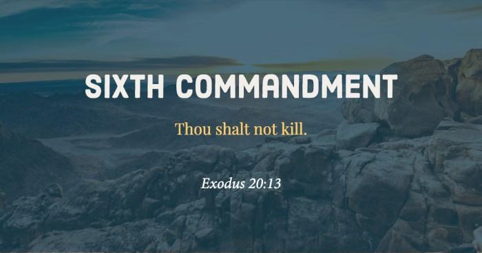 Sixth Commandment