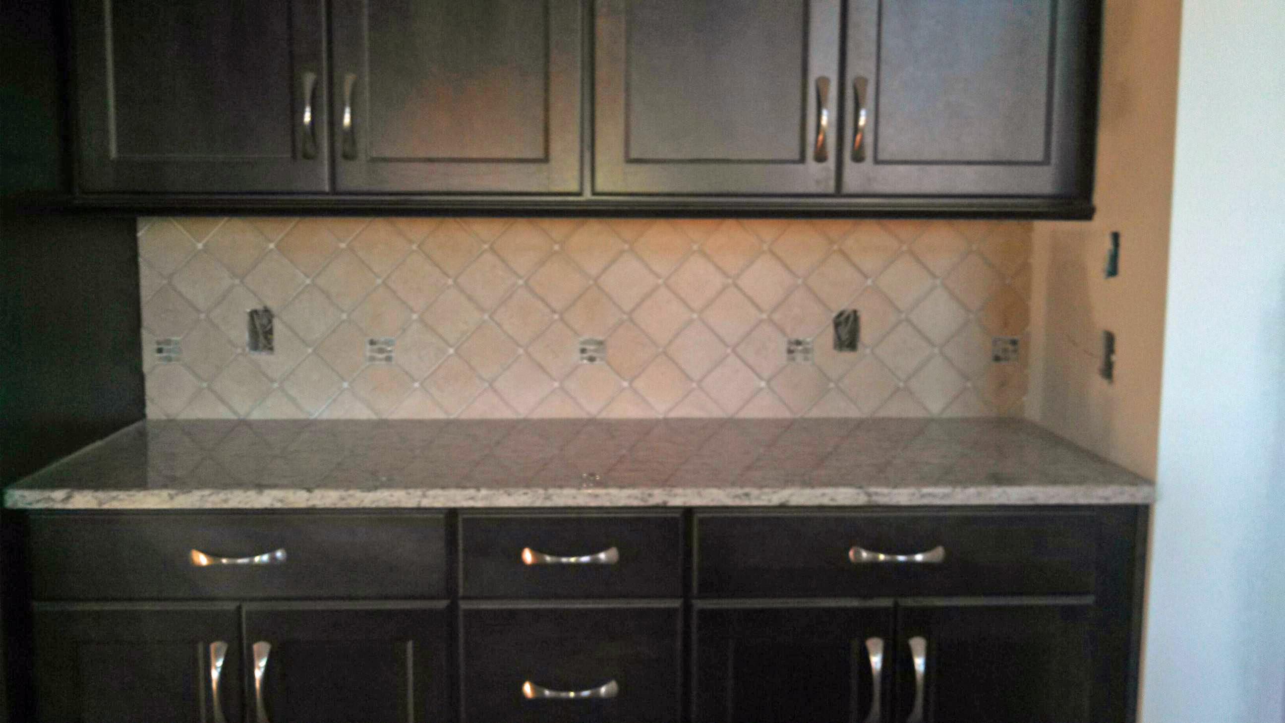 Tile backsplash dark cabinets   Grace Construction, Inc. on Backsplash Ideas For Dark Cabinets  id=81863