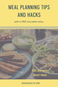 one week meal plan and meal planning tips and tacks