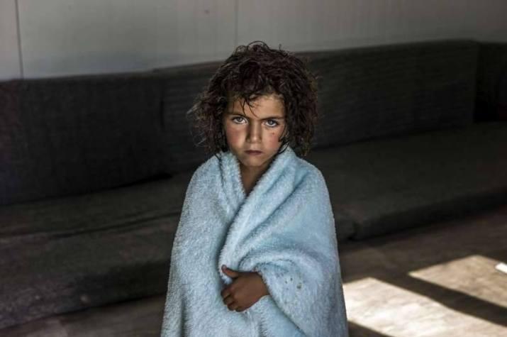 Little Girl. Sad. in Towel