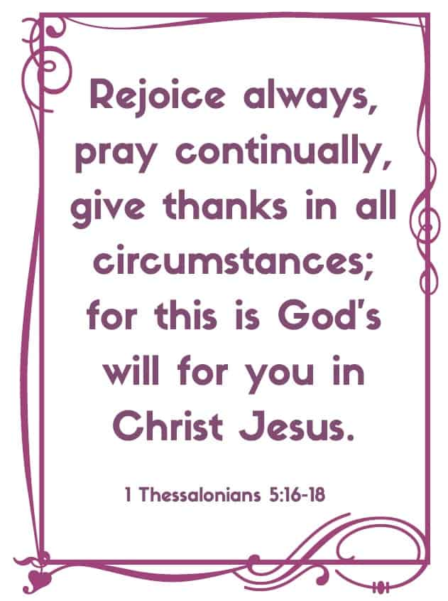 """Bible Memory Verses: """"R"""" 1 Thessalonians 5:16-18"""