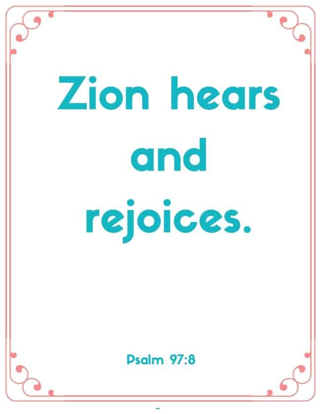 "Bible Memory Verses: ""Z"" Psalm 97:8"
