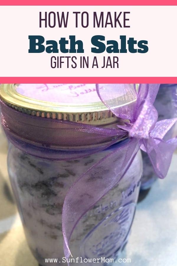 Mason Jar Bath Salt Gifts