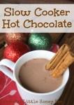 Slow Cooker Hot Chocolate on gracefullittlehoneybee.com