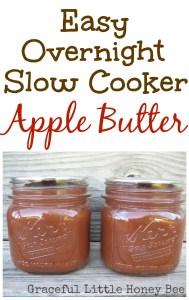 Easy Overnight Slow Cooker Apple Butter on gracefullittlehoneybee.com