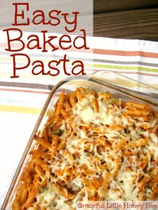 Easy Freezer-Friendly Baked Pasta on gracefullittlehoneybee.com