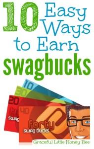 10 Easy Ways to Earn Swagbucks on gracefullittlehoneybee.com