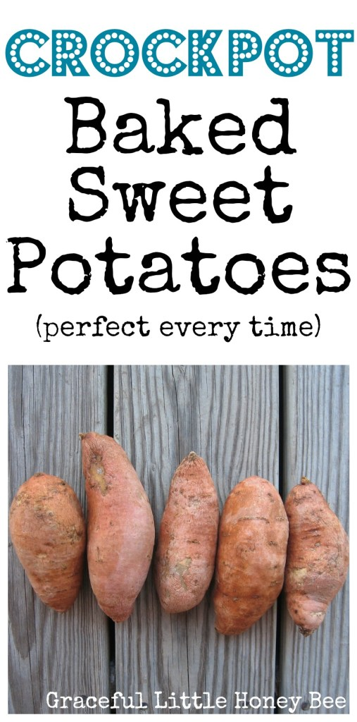 These crockpot sweet potatoes are turn out perfectly every time! Plus they are healthy and delicious!