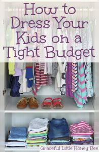 Learn how to dress your kids in quality clothes on a tight budget on gracefullittlehoneybee.com