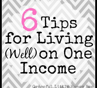 6 Tips for Living on One Income on gracefullittlehoneybee.com
