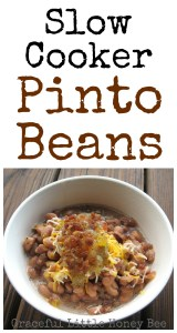 Slow Cooker Pinto Beans on gracefullittlehoneybee.com